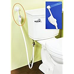 Mrs.Bidet White Spray Attachment For Toilet Complete Kit