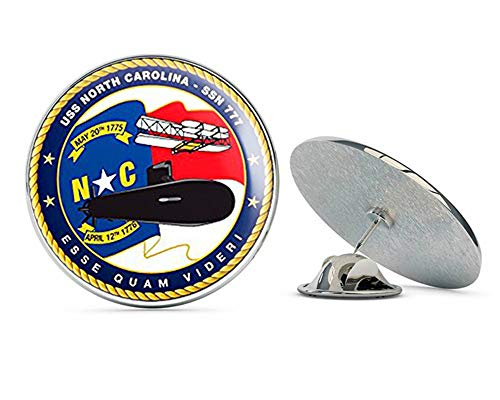 NYC Jewelers USS North Carolina SSN 777 Seal (Military Guam Army) Metal 0.75