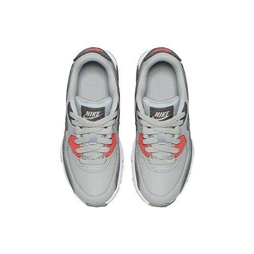 Nike Kids Air Max 90 Ltr (ps) Scarpa Da Corsa Puro Platino / Grigio Freddo / Lava Bagliore