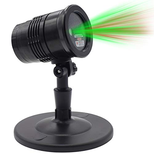 Laser Lights Red Green Dynamic Meteor Projector Light, Outdoor Waterproof Laser Lamp for Outdoor Garden/Yard/Wall Family Gathering Party KTV Wedding Night Club Decoration -