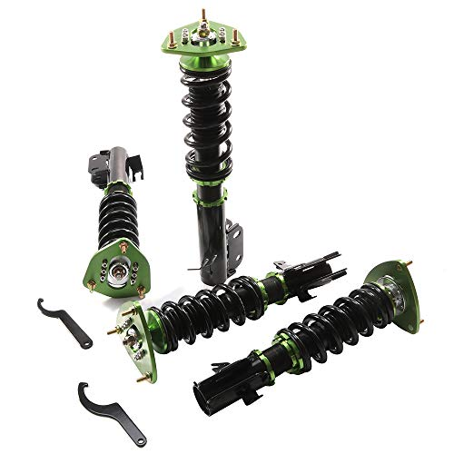SCITOO Compatible Coilover Suspensions Shock Struts Kits Assembly Full Set Shocks Struts Kits Replacement fit for 2005-2005 Saab 9-2X /2003-2008 Subaru Forester GDA GDB/2002-2007 Subaru Impreza