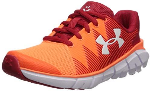 (Under Armour Boys' Pre School X Level Scramjet 2 Sneaker, Red (600)/Orange Glitch, 2 M US Little Kid)