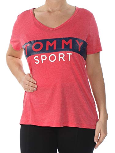 9836d5a4fa464 Tommy Hilfiger  39 Womens New 1143 Red Printed Short Sleeve T-Shirt Top S B