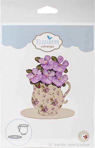 Elizabeth Craft Designs 1375 Metal Die Victorian Tea Cup & Saucer