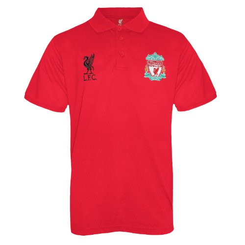 Liverpool Football Club Official Soccer Gift Mens Crest Polo Shirt Red - Club Polo Red Price Sport