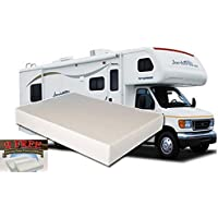 10-Inch Queen MEDIUM-FIRM Memory Foam Short Mattress for RV, Camper - Made in the USA - 2 FREE Pillows