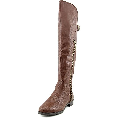Mocha Faux Womens Row Boots Knee Leather Rialto First Riding High qzOR6