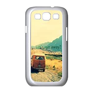 Custom Colorful Case for Samsung Galaxy S3 I9300, Let's Run Away Cover Case - HL-495460