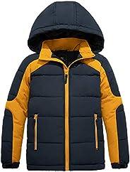 ZSHOW Boy's Thicken Winter Puffer Jacket Windproof Quilted Warm Fleece Coat with