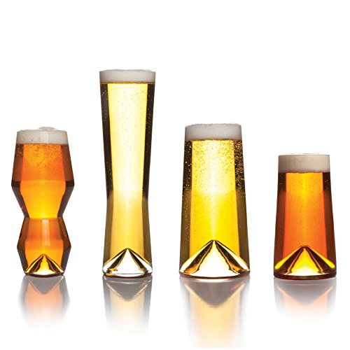 Rare Beer - Sempli Monti-Taste Beer Glasses, Set of 4 in Gift Box