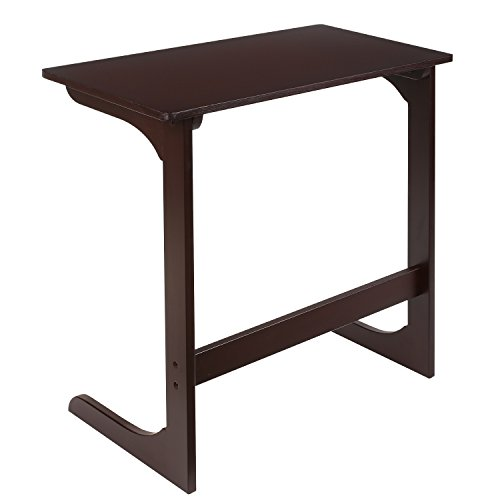 HOMFA Bamboo Snack Table Sofa Couch Coffee End Table Bed Side Table Laptop Desk Modern Furniture for Home Office, Retro Color by Homfa (Image #6)