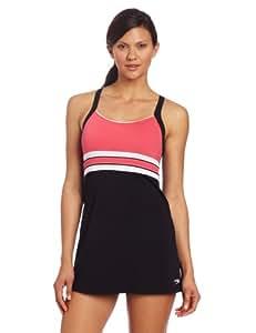 Speedo Women's Horizon Splice Ultraback Endurance+ Swim Dress, Zinnia, 10
