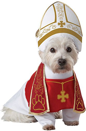 Dog Mobster Costume (Holy Hound Priest Dog Pet Costume)