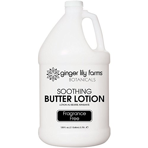 Ginger Lily Farm's Botanicals Soothing Butter Lotion, Fragrance-free Gallon, 128 ()