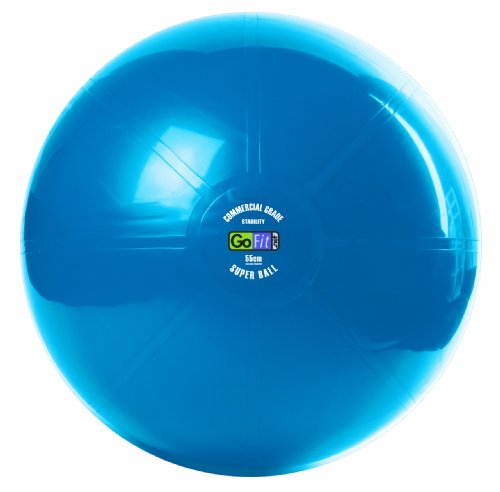 GoFit #NP-55S Commercial Grade Deflated Exercise Ball, Blue, 55cm