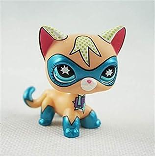 Pet Shop Juguetes LPS Raras de pie Forma máscara de Gato de Pelo Corto (Elegir su Gato) para niños Regalo 1pc,…