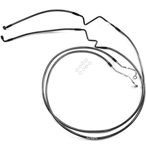 マグナム MAGNUM フロント ブレーキライン ロワー FLH(デュアルディスク) 黒 1741-4063 AS47016   B01LZDL15L