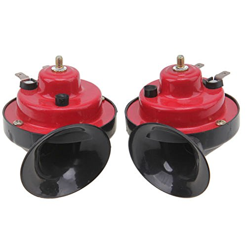 1 Pair Universal 12V 135DB Loud Dual-tone Electric Snail Air Horn Siren for Cars Vans Bikes Boat