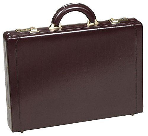Slim Attache - Executive Slim Leather Attache Case Color: Cognac