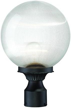 Acclaim 5267BK CL Havana Collection 1-Light Post Mount Outdoor Light Fixture, Matte Black