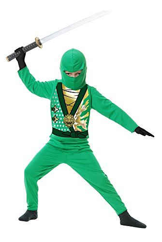 Amazon.com: Disfraz de ninja vengador, serie 4, verde jade ...