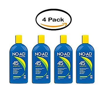 NO-AD Sunblock Lotion SPF 45 - 16 oz, Pack of 4 by No-Ad