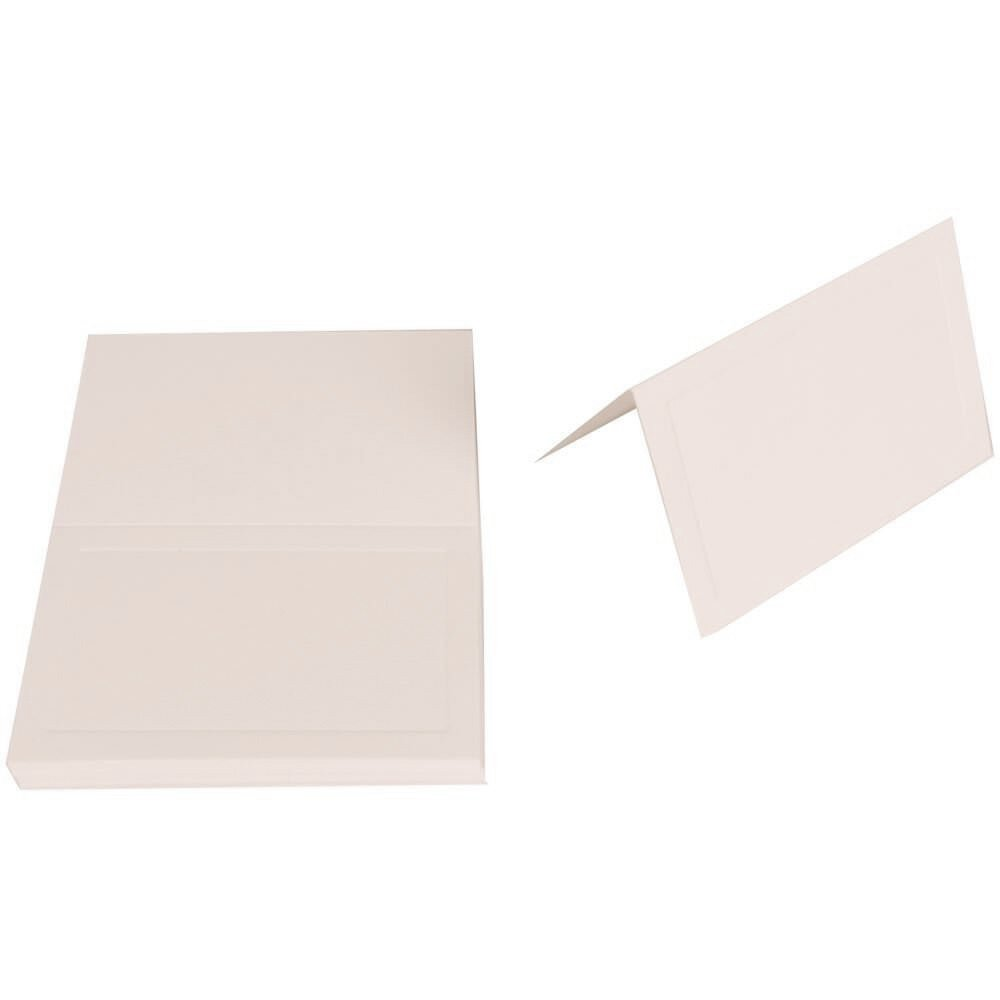 JAM Paper Foldover Table PlaceCards - 2 3/16'' x 3 3/8'' (Fits in 3Drug Envelopes) - 80lb Strathmore Cover Panel Bright White Wove - 25/pack