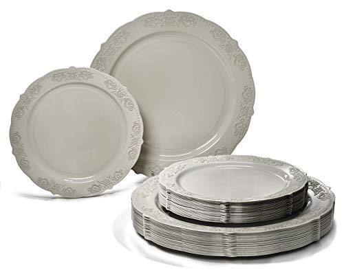 Salad Gray Plate -