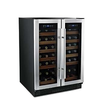 42 Bottle Double Door Dual Zone Wine Refrigerator