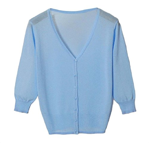 ホイッスル失業ピーブTootess Women's Vest Cardigan Basic Sunscreen Knitting Coat Button Shirt Top
