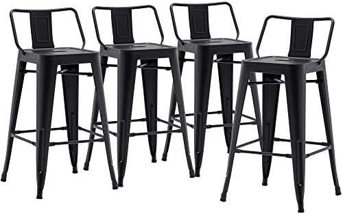 Cheap 30 inch Metal Barstools Set of 4 Indoor Outdoor Bar Stools outdoor bar stool for sale