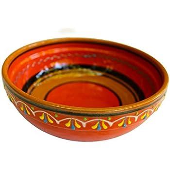 Terracotta Orange, Deep Dish - Hand Painted From Spain