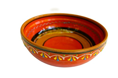 Terracotta Orange, Deep Dish - Hand Painted From Spain by Cactus Canyon Ceramics
