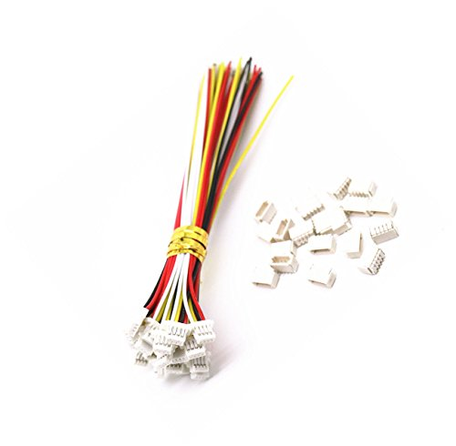 Exiron 5 sets Micro JST SH 1.0mm 4-Pin Female Connector with Wire and Male Connector