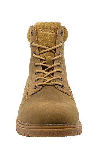 en Jaune Bottes T TS095 Texas Cuir Shoes Homme 7Hwx1np