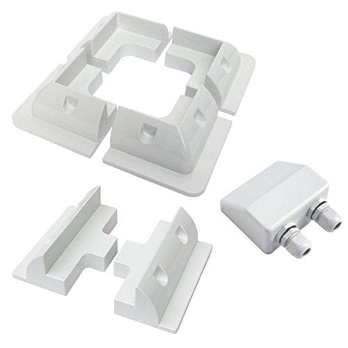 Giosolar Solar ABS Mounting System/Brackets / Kit Vans, Boats, Sheds 7 Piece Set