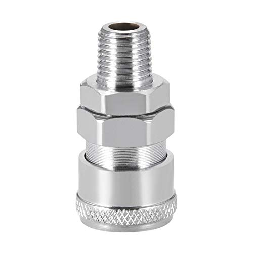 (uxcell Air Tool Pressure Washer Adapter High Flow Hose Coupler G 1/4 Male Quick Connect)