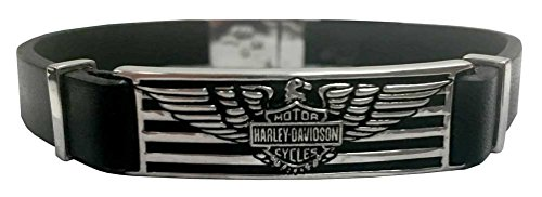 Harley Davidson Stripes Bracelet Leather HDB0349 8