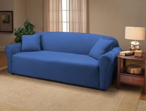 blue jersey chair stretch slipcover