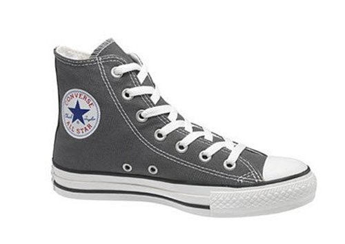 Converse Baby Chuck Taylor All Star Canvas High Top Sneaker, Charcoal, 2 M US Infant
