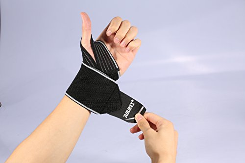 Wrist-Wraps-with-Wider-Thumb-Loops-Adjustable-Wrist-Wraps-Support-Brace-with-Thumb-Stabilizer-for-Crossfit-Powerlifting-One-Pair-Wrist-Wraps-Weightlifting-for-men-and-women
