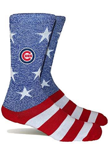PKWY by Stance MLB Unisex Merica 1-Pack Crew Socks (Medium, Chicago Cubs)