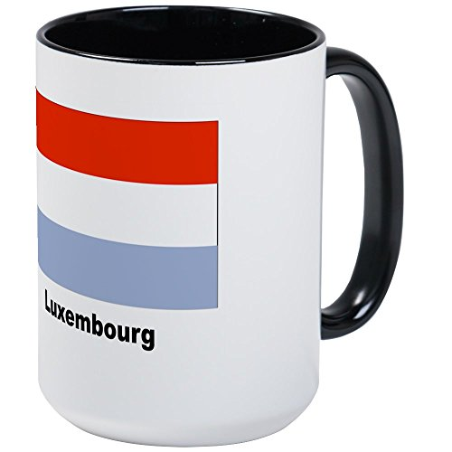 CafePress - Luxembourg Flag Large Mug - Coffee Mug, Large 15 oz. White Coffee Cup