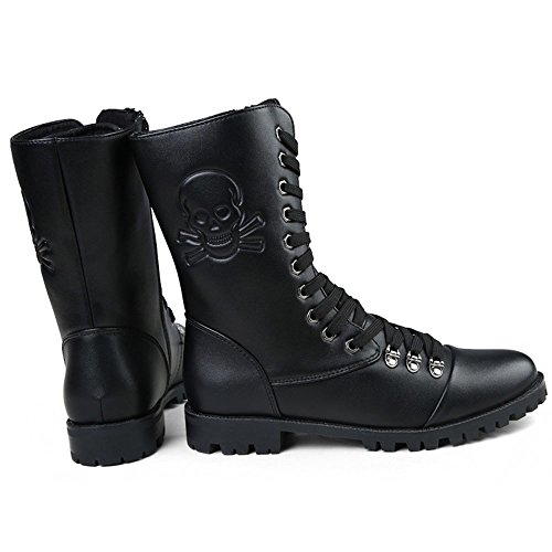 color Hombre 2 42 27cm Negro Military Botas Liyanqin Con Eu 24cm Para Combat Tamaño Cremallera Negro Jungle 3 Bvn6qA0