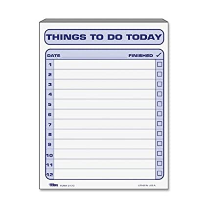 amazon com tops things to do today pad 100 sheet s 8 5 x 11