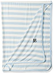 KicKee Pants Baby Essentials Swaddling Blanket Boys, Pond Stripe, One Size