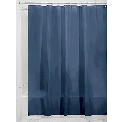 Interdesign Mildew Resistant Peva 3 Gauge Shower Liner  Stall 54 X 78  Navy