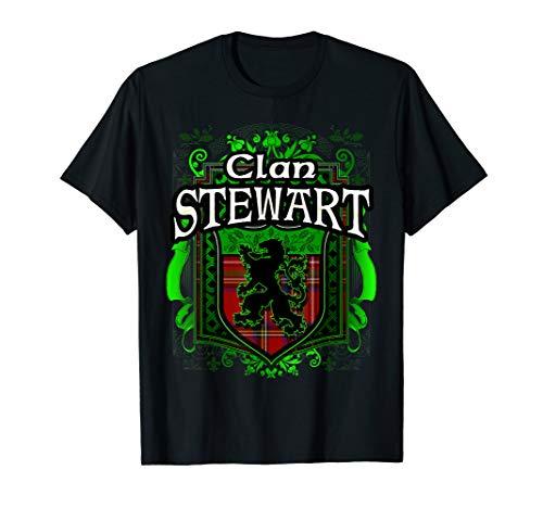 Scottish Surname Clan Stewart Tartan Lion Crest ()