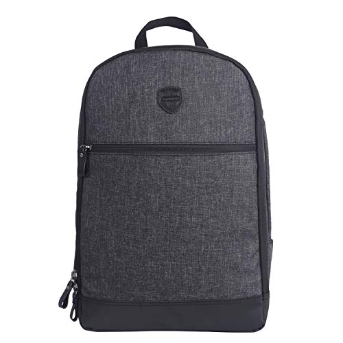 "TOURBON Nylon Clip-On Bike Panniers Backpack 13"" Laptop Bag - Black"