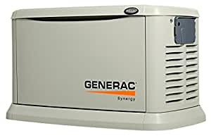 Generac 6055 Synergy Series, 20kW Air Cooled Standby Generator, Natural Gas/Liquid Propane Powered, Aluminum Enclosed, with Mobile Link and 200 Amp Smart Transfer Switch (Discontinued by Manufacturer)